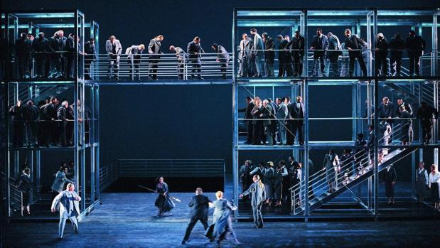 Una imagen de una producción de «El ocaso de los dioses» en Bayreuth