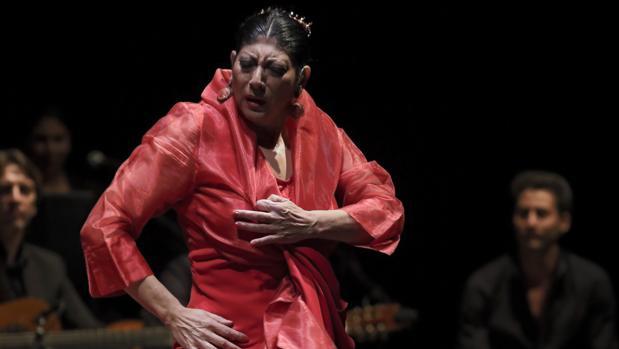 La bailaora Manuela Carrasco en el Teatro de la Maestranza