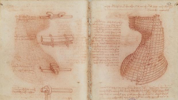 Proyecto de Leonardo para un monumento ecuestre en honor de Francesco Sforza, que nunca se realizó («Códice Madrid II»)