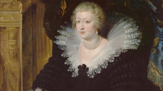 «Ana de Austria, reina de Francia», de Rubens. Detalle