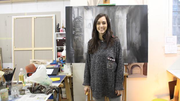La pintora muestra a ABC varias obras de su próxima exposición