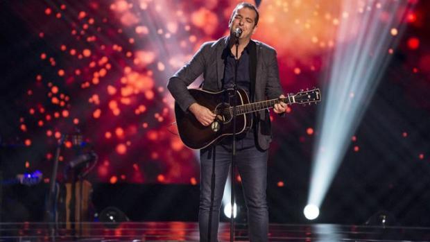 Actuación de Javier Moya en «La Voz»