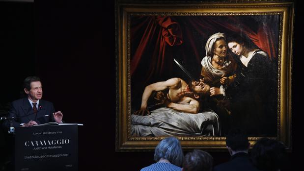 Una imagen de la presentación del «Caravaggio perdido»
