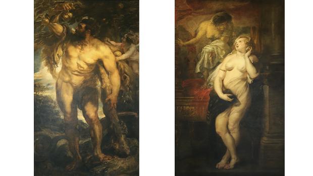 Hércules en el jardín de las Hespérides y Deyanira tentada por la Furia