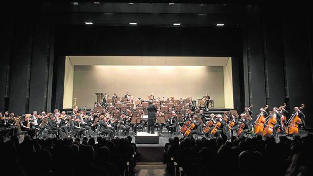 La ROSS durante un concierto en el Teatro de la Maestranza