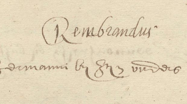 La renovación de la matrícula de Rembrandt en la Universidad de Leiden en 1622