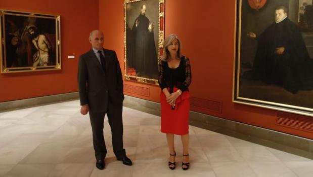 Bernard Ruiz-Picasso y la consejera Patricia del Pozo