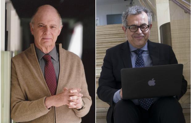 Los historiadores Enrique Krauze y Manuel Lucena Giraldo