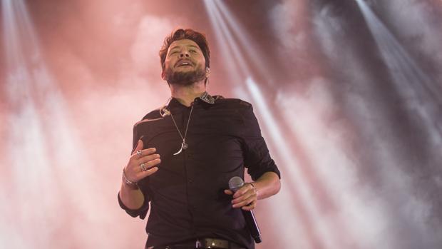 Manuel Carrasco, en su concierto gratuito del pasado diciembre en Sevilla