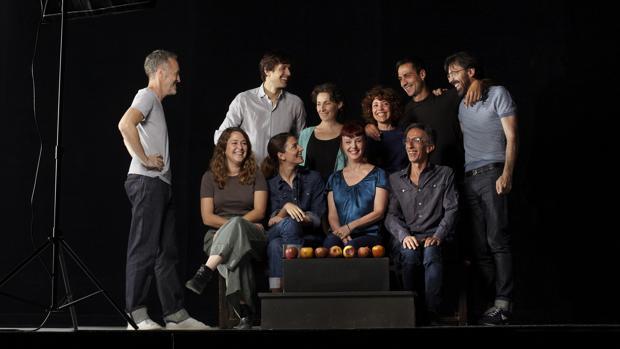 El director, el productor y los actores de «La función por hacer»