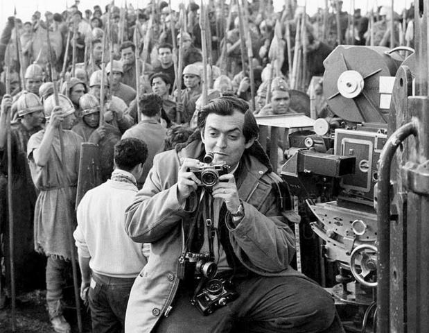 Stanley Kubrick, durante el rodaje de «Espartaco» en Colmenar Viejo (Madrid)