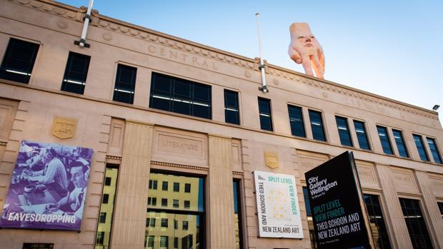 «Quasi», sobre el tejado de la City Gallery Wellington