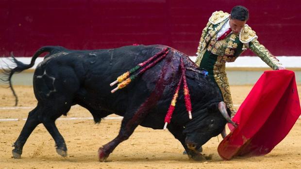 Diego Urdiales, en el coso de la Ribera