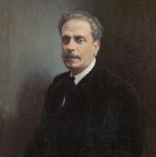 Detalle del retrato que le hizo a García Ramos Alfonso Grosso