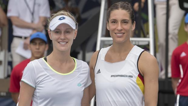 Alison Riske (Estados Unidos) y Andrea Petkovic (Alemania)