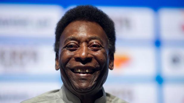 Pelé durante un evento en 2018