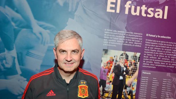 José Venancio López, en el museo de la selección española