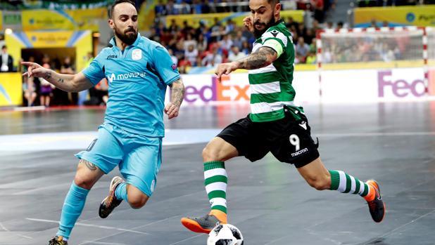 Ricardinho, en la final ante el Sporting Clube