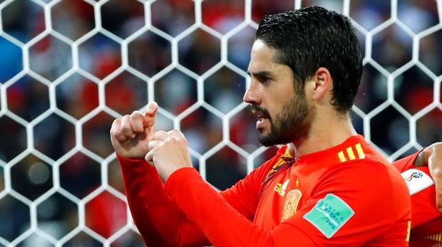 Isco tras marcar con España en el partido del Mundial ante Marruecos