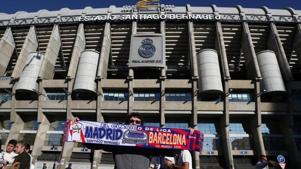 Estadio Santiago Bernabéu, antes del último clásico de Liga