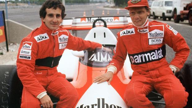 Prost y Lauda, compañeros en McLaren y rivales