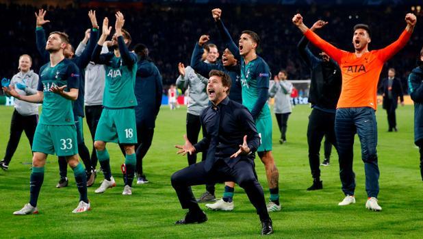 Pochettino celebra el pase a la final de la Champions