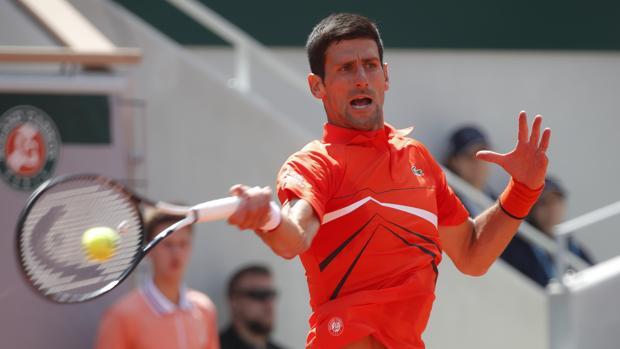 Djokovic, durante su partido contra Zverev