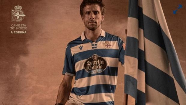 La camiseta del Deportivo para la temporada 2019-20