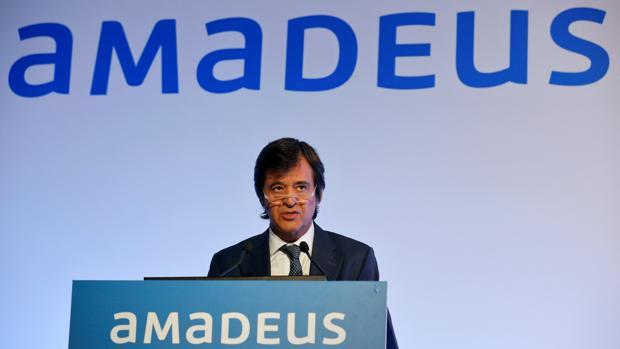 El CEO de Amadeus, Luis Maroto, durante un acto en 2016