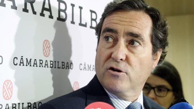 El presidente de la patronal CEOE, Antonio Garamendi
