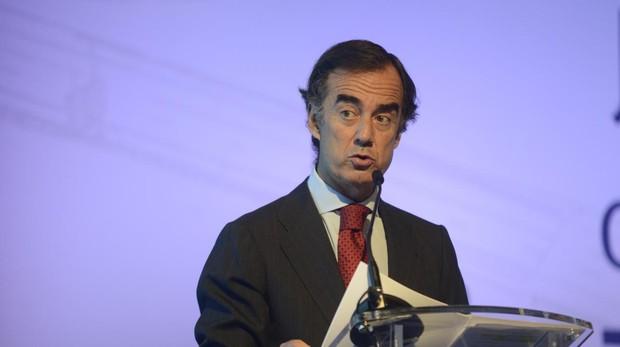 El presidente de OHL, Juan Villar-Mir, en la junta de accionistas del grupo