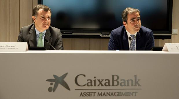 Juan Bernal, director general de CaixaBank AM y Víctor Allende, director ejecutivo de Banca Privada y Banca Premier de CaixaBank