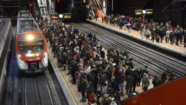 Huelga de Renfe en la estación de Atocha el año pasado