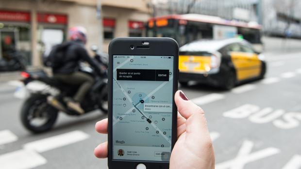 Imagen de archivo de la aplicación de Uber