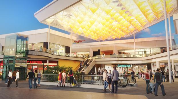Imagen virtual del nuevo centro WAY de Dos Hermanas, que tendrá oferta comercial y de ocio