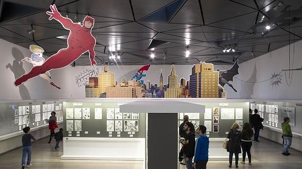 Imagen de la exposición «Superhéroes con Ñ» del Museo ABC