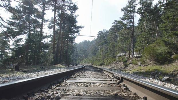 Raíles del tren turístico Cercedilla - Puerto de Cotos