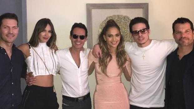 Jennifer Lopez y Marc Anthony juntos de nuevo en uno de los espectáculos de JLo