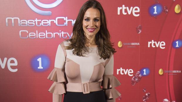 Eva González durante la presentación de la segunda temporada del programa «Masterchef Celebrity »
