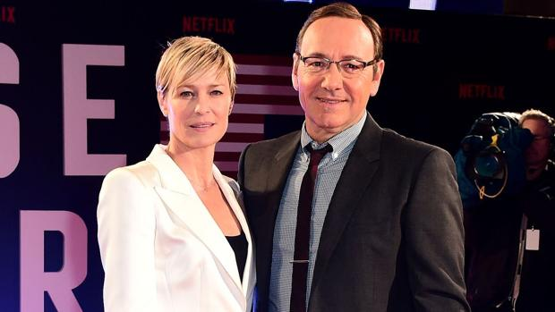 Robin Wright junto a Kevin Spacey