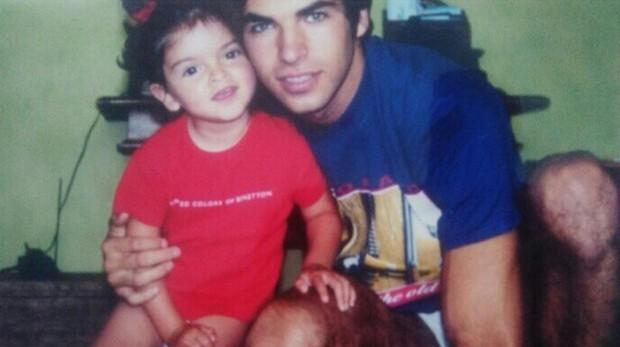La modelo Lucía Rivera junto a su padre, Cayetano Rivera