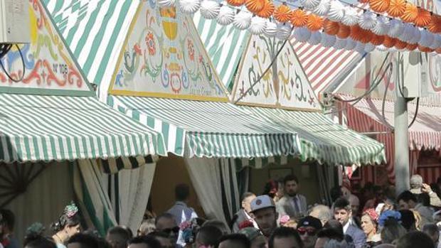 Casetas en la Feria de Abril de Sevilla