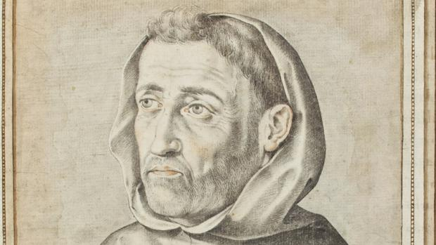 Fray Luis de León, descrito y dibujado hacia 1598 por Francisco Pacheco (1564-1644)