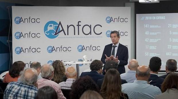 Mario Armero, vicepresidente de Anfac, durante la presentación del Informe 2018 de la entidad