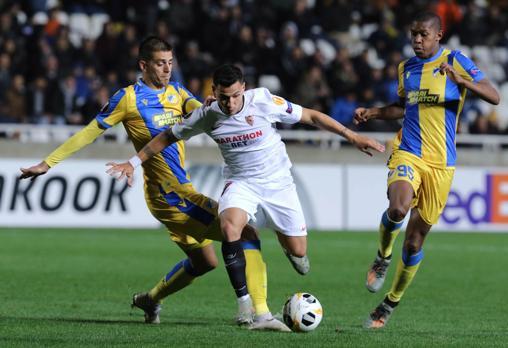 Rony Lopes, lors du match du FC Séville contre Apoel