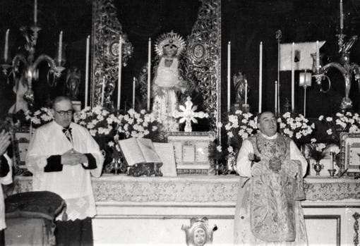 Bendición de la Virgen de la Cabeza por Bueno Monreal