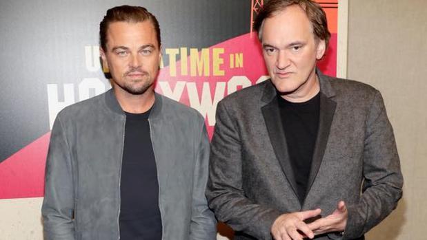 DiCaprio y Tarantino en CinemaCon