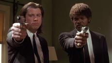 Travolta y Samuel L. Jackson en «Pulp Fiction»