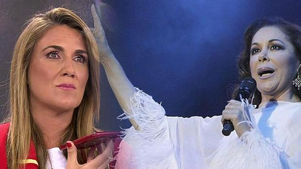 Carlota Corredera, junto a Isabel Pantoja en «Sálvame»
