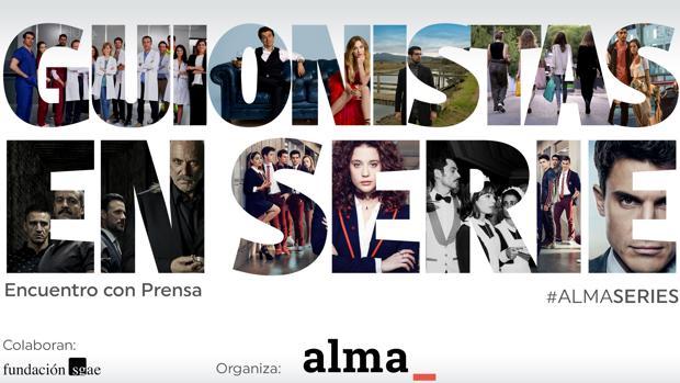 Detalle del cartel del encuentro «Guionistas en serie»